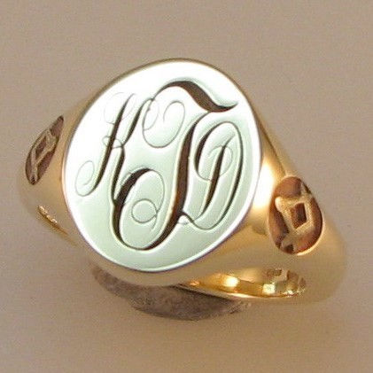 masonic symbol engraved shoulders signet ring